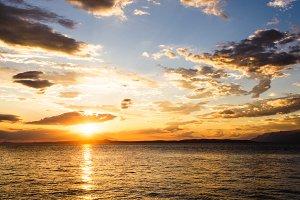 Summer sunset on the Adriatic sea