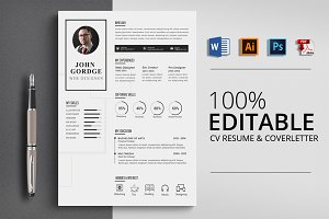 Simple Design CV Word Template