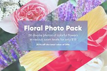24 Floral Photos Pack
