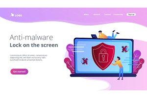 Antivirus software concept vector