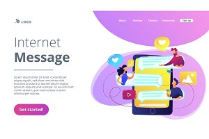 Internet forum concept vector