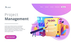 Task management it concept vector