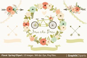 Floral Spring Clipart