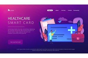 Healthcare smart card concept vector