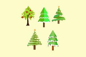 Christmas Trees Illustration