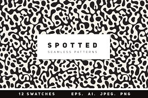 Spotted Seamless Patterns Set