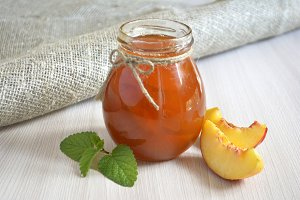 Homemade peach or apricot jam