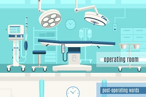 Medical surgery operation banners