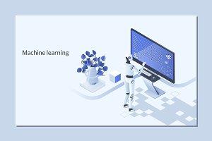 Machine learning algorithm concept