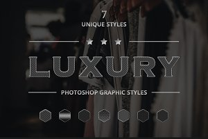 Luxury Photoshop Graphic Styles