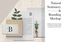 Natural Stationery & Branding Mockup