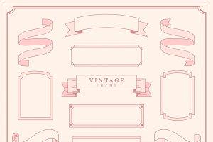 Flourishes vintage ornament frame