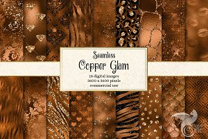 Copper Glam Digital Paper