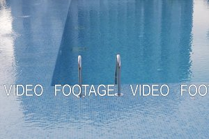 A shaky surface of an open swimming