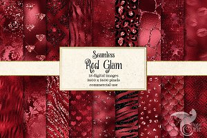 Red Glam Digital Paper