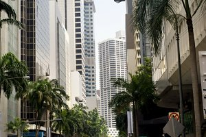 Central street of Singapore