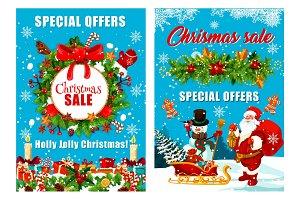 Vector Christmas and Santa gifts
