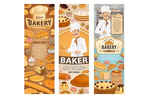 Bakery, baker, cafe and pastry shop