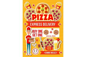 Pizza and fast food combo meals