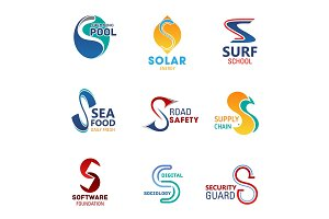 Business icons of letters S