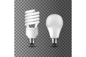 Energy saving vector light bulbs