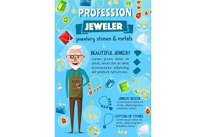 Jeweler or goldsmith, jewelry