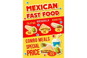 Mexican fast food restaurant meal
