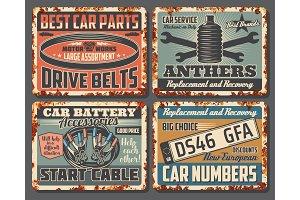 Car repair rusty metal bannners