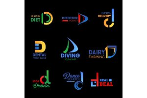 Company identity with letter D