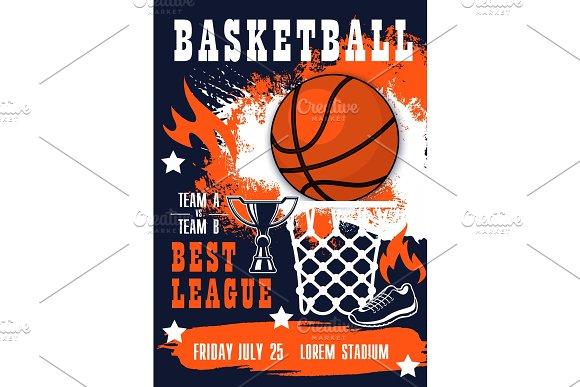 basketball sport match invitation illustrations creative market