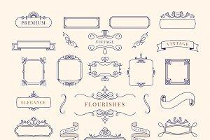 Collection of vintage ornament frame
