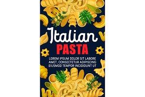 Italian pasta and spaghetti food