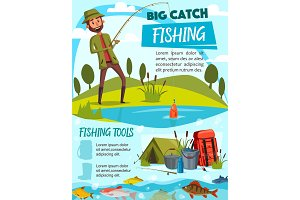 Fishing equipment, fisherman tackle