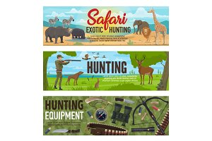 African safari, forest hunting sport