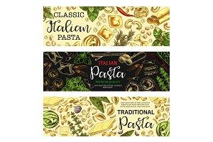 Italian pasta, macaroni food sketch