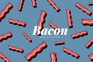 Bacon pattern food illustration