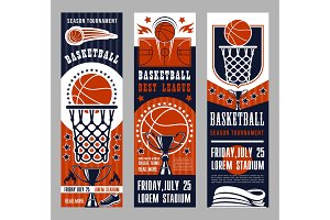 Basketball sport team game banners