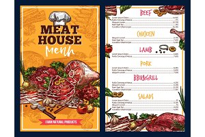 Butchery products meat house menu