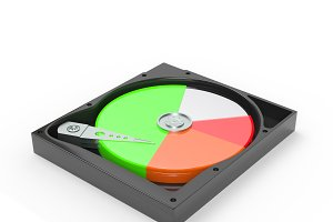 Hard disk drive inside with free and