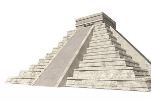 Temple of Kukulkan. Mayan pyramid