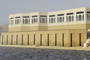 Ancient assyrian palace 3d