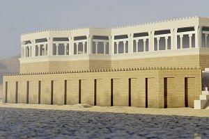 Ancient assyrian palace 3d