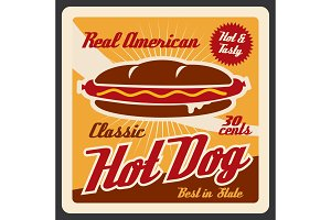 Hot dog takeaway fast food snack