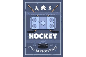 Ice hockey championship sport game