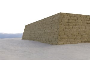 Tomb of egypt, mastaba made of old