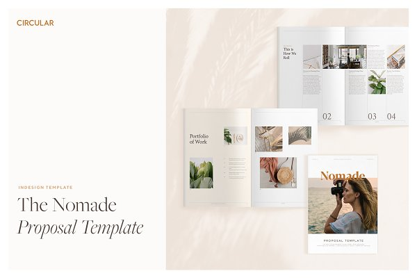 Brochure Templates: Circular - NOMADE // Proposal Template