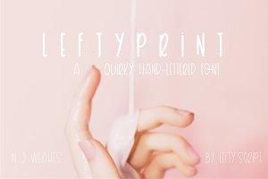 Lefty Print - Hand Lettered Font