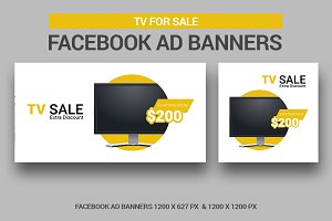 TV for Sale Banners Facebook Ad