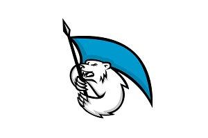 Angry Polar Bear Brandishing Flag Ma