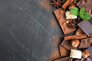 Chocolate and cocoa powder